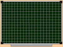 Доска меловая в клетку S-line 90х120