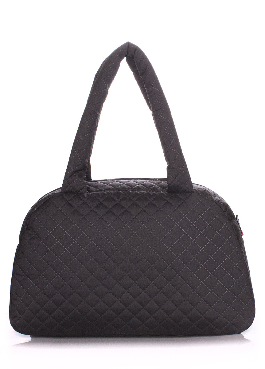 Стеганая сумка-саквояж POOLPARTY черная