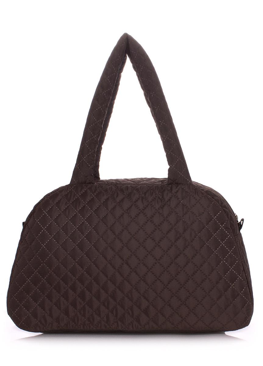 Стеганая сумка-саквояж POOLPARTY коричневая