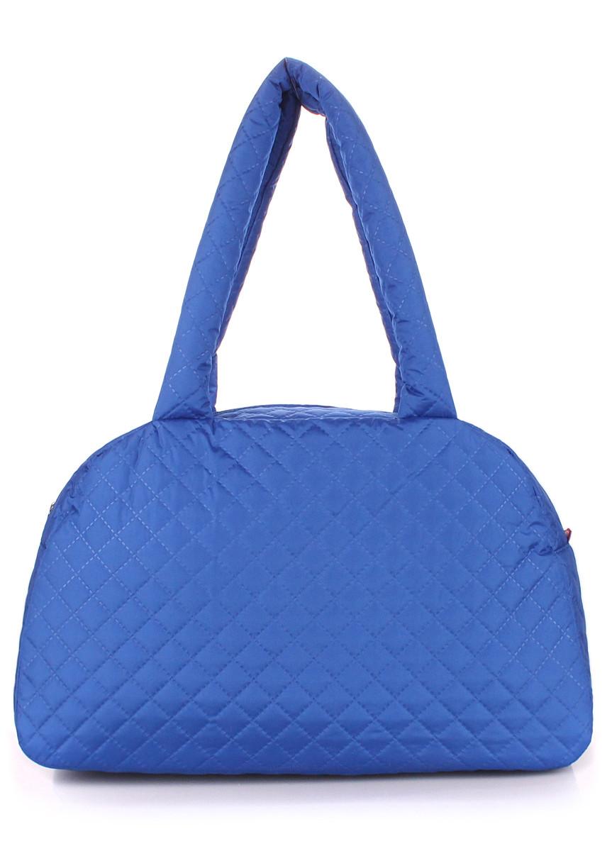 Стеганая сумка-саквояж POOLPARTY синяя