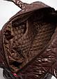 Женская стеганая женская сумка из ткани коричневая , фото 3