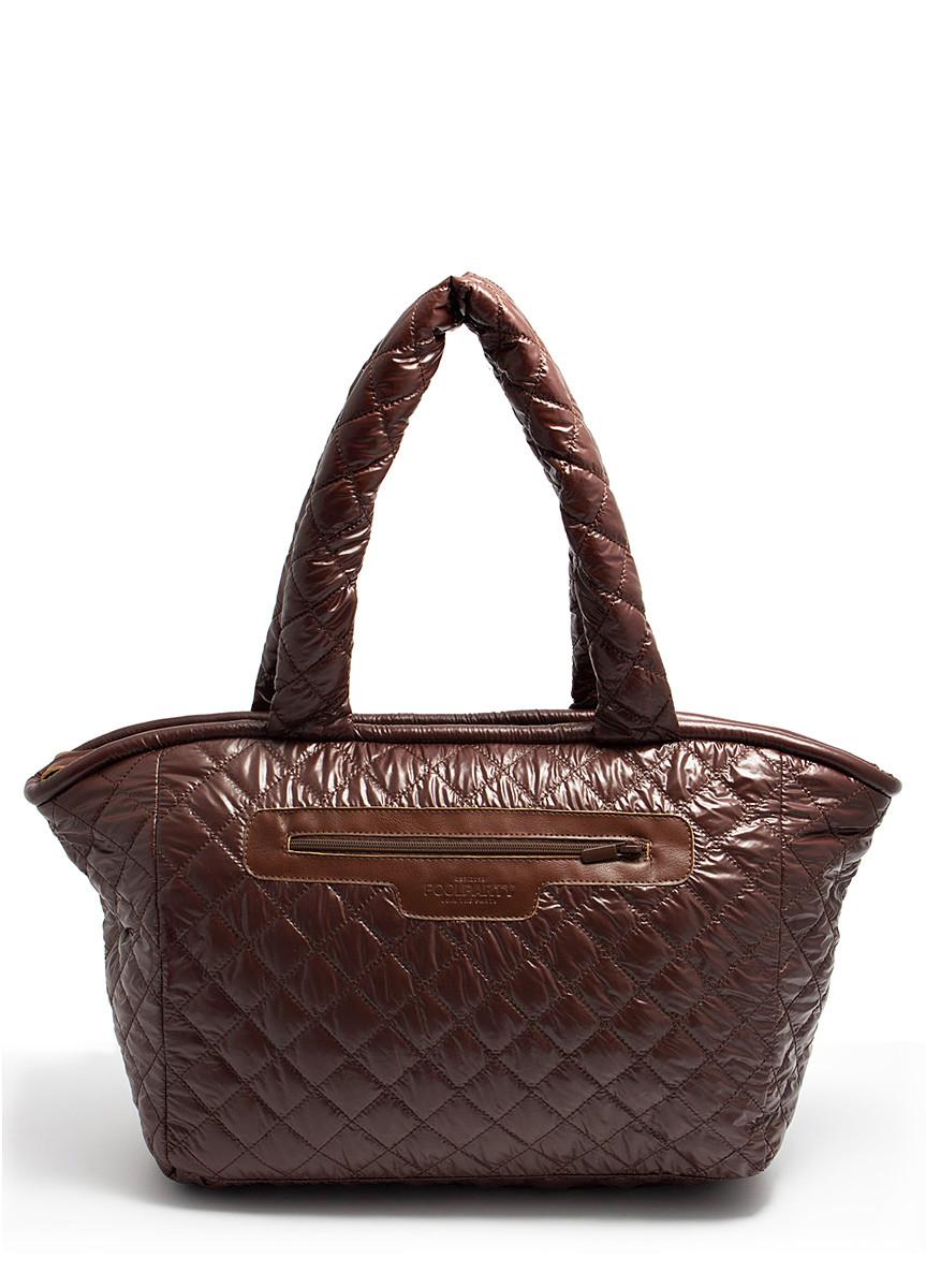 Стеганая сумка из ткани POOLPARTY Cocoon brown