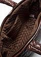 Стеганая сумка из ткани POOLPARTY Cocoon brown, фото 3
