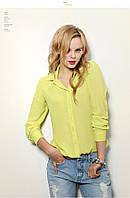 Блузка рубашка женская Желтая, фото 1