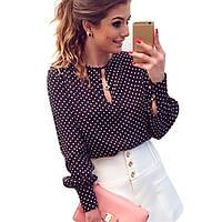 Блузка рубашка женская Горошек, фото 1