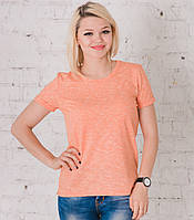 Женская футболка оранжевый меланж, фото 1