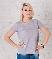 Женская футболка серый меланж, фото 1