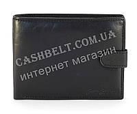 Кожанный, вместительный мужской прочный кошелек SWAN art. B40 черный
