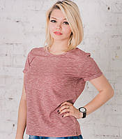 Женская футболка шоколад меланж, фото 1
