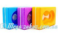 Йога-блок (блок для йоги) с отверстием 23x15x7,5см: 4 цвета