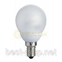 Цоколь Е14, Мощность 7W, температура 2700К. New Line шар. Лампы энергосберегающие Realux (Реалюкс)