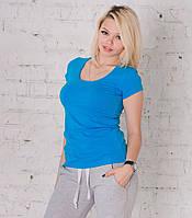 Футболка женская голубая, фото 1