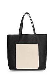 Кожаная женская сумка POOLPARTY Mania черная
