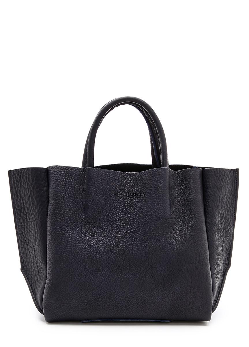Кожаная женская сумка POOLPARTY Soho черная