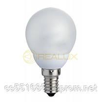 Цоколь Е14, Мощность 7W, температура 6400К. New Line шар. Лампы энергосберегающие Realux (Реалюкс)