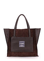 Кожаная сумка POOLPARTY Soho двусторонняя коричневая