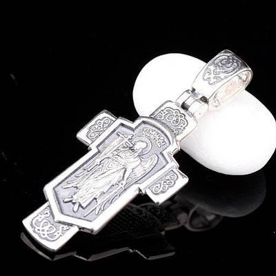 Серебряный крест Православный  «Ангел Хранитель» 34589