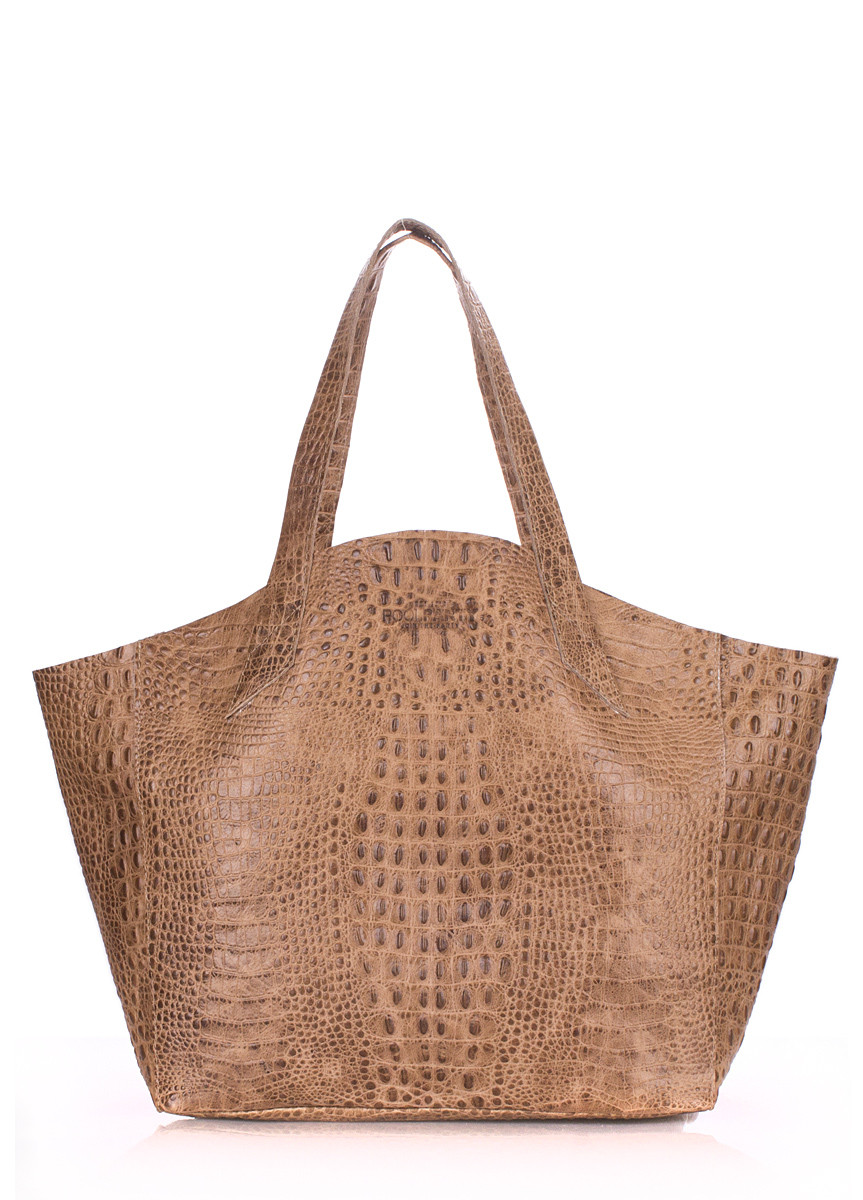 Кожаная женская сумка POOLPARTY Fiore бежевая