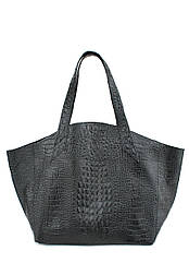 Кожаная женская сумка POOLPARTY Fiore черная