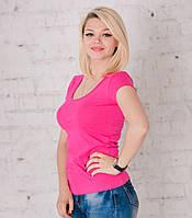 Футболка женская ярко-розовая, фото 1