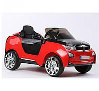 Детский электромобиль БМВ RX5188 красный КОЖАНОЕ СИДЕНЬЕ и амортизаторы