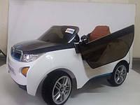 Детский электромобиль БМВ RX5188 белый КОЖАНОЕ СИДЕНЬЕ и амортизаторы