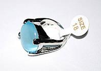 Перстень с голубым кошачьим глазом