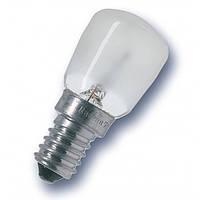 Лампа OSRAM T26/57 FR 15W Е14, бытовая миниатюрная матовая