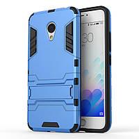 Чехол накладка для Meizu M3 Note / Blue Charm Note3 противоударный Alien с подставкой, Голубой