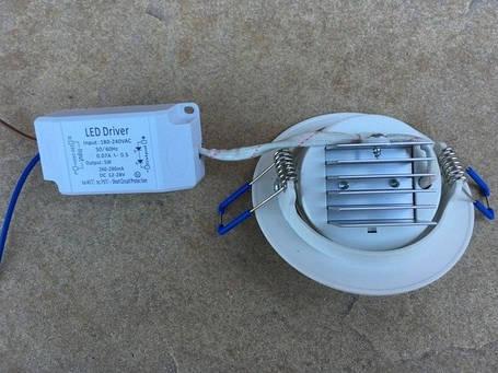Светодиодный cветильник SL2001 5W 4000K круг поворотный белый Код.58674, фото 2