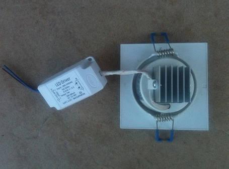 Светодиодный cветильник SL2002 5W 4000K квадрат поворотный белый Код.58673, фото 2