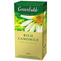 Чай GREENFIELD травяной пакетированный Rich Camomile с ромашкой, сушеными яблоками и корицей (25*1,5г в пач)