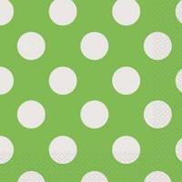 Набор бумажных салфеток Lime Green Decorative Dots