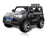 Детский двухместный электромобиль BMW M 3118 EBRS-2 черный, 4 мотора, колеса EVA, пульт Bluetooth