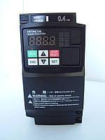 Преобразователь частоты WJ200-004SF, 0.4кВт/220В