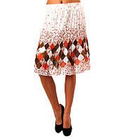 Юбка женская оранжевая с рисунком