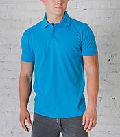 Мужская футболка Поло голубая