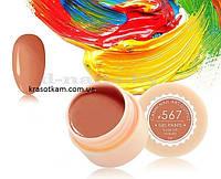 Гель-краска Canni 567 оранжевая карамель