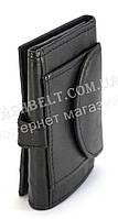 Кожаный компактный мужской кошелек тройного сложения SWEN art. 0091-11-23586732 черного цвета