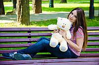Мишка Тедди 60 см, плюшевые медведи.мягкая игрушка абрикосовый