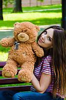 Мишка Тедди 60 см, плюшевые медведи.мягкая игрушка коричневый