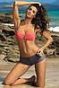 Купальник женский с шортиками (размеры S, XL в расцветках), фото 4