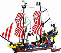 Детский конструктор Brick 308  Пиратский корабль 870 деталей YNA