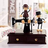 Швейная машина музыкальная шкатулка Влюбленные