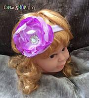 Повязка на голову для девочек с большим цветком | Код товара YLC-01