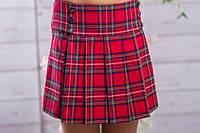 Школьная юбка sh3 клетка (красная и темно-синяя)