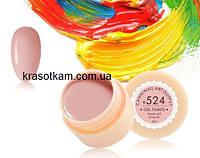 Гель-краска Canni 524 розово-бежевая