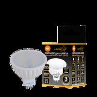 Светодиодная лампа LEDSTAR,  3W, MR16, 270lm, 4000К матовое стекло
