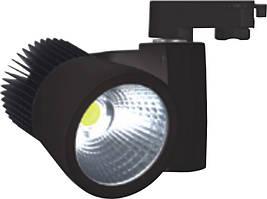 Трековый светодиодный светильник, 30Вт, черный/белый, 2700 К
