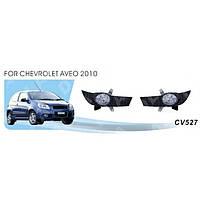 Фары доп.модель Vitol Chevrolet Aveo Hatchback 2010-12 CV-527W